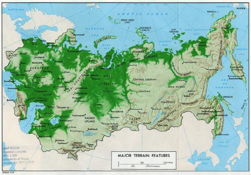 러시아 지형세도