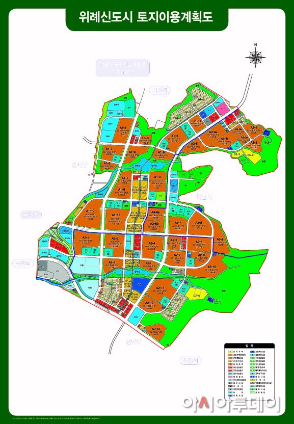 ★위례 토지이용계획도