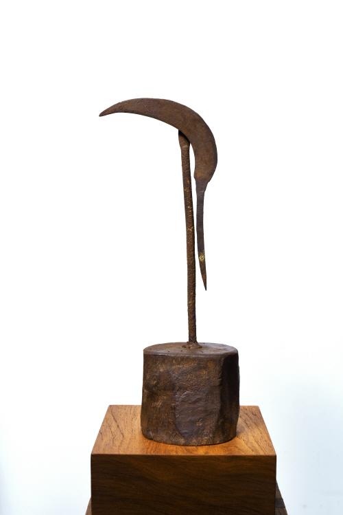 낫·부엌칼 등 무쇠 연장으로 만들어진 '새' 조각의 순수함 ...
