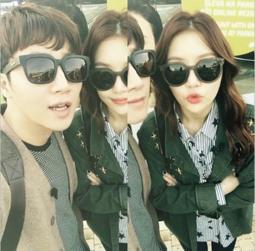 """레이디제인, 홍진호와 신혼부부 포스 """"프라하 공항에서"""""""
