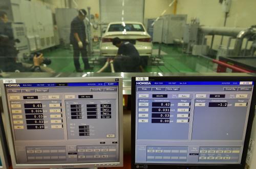 폭스바겐 차대동력계 실험-01