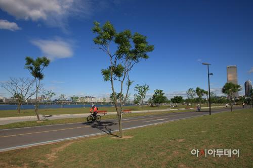여의도 자전거 도로