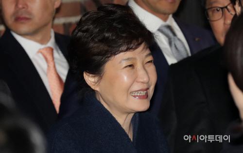 [포토] 박근혜 전 대통령 삼성동 사저 도착