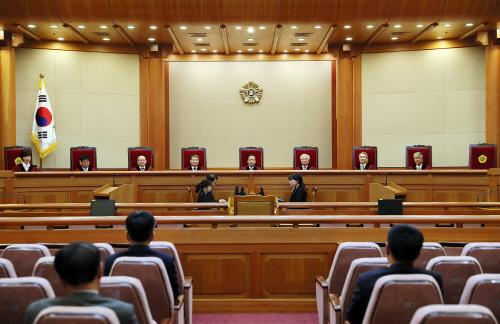 헌법재판소 8인 체제<YONHAP NO-4202>