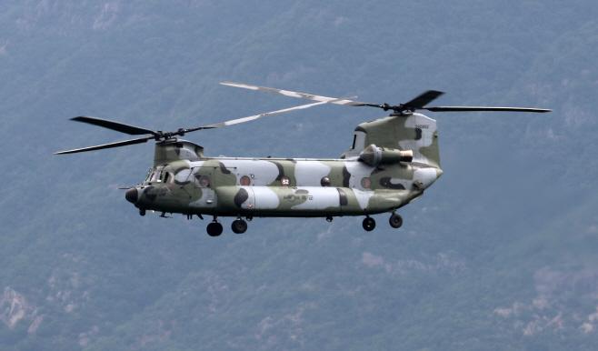 사드 기지로 착륙하는 군 헬기
