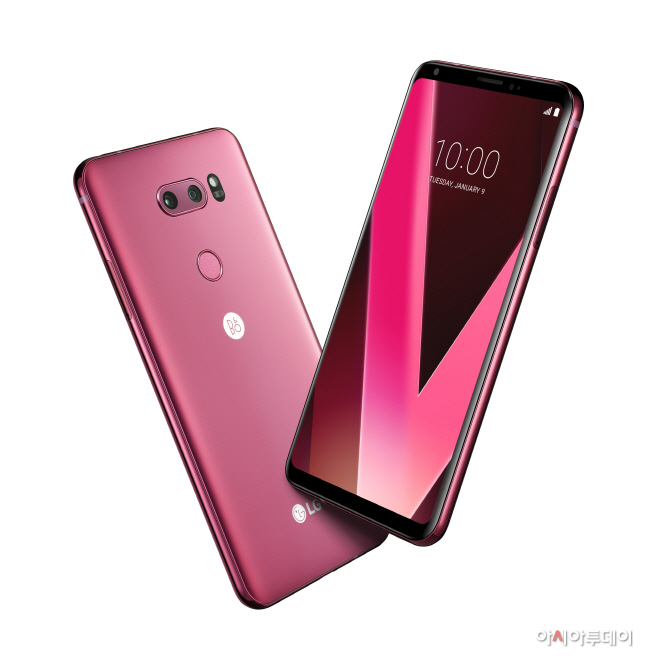 [사진1] LG V30 라즈베리 로즈 CES 2018서 공개