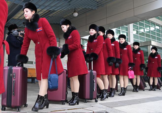 북한 응원단 입경