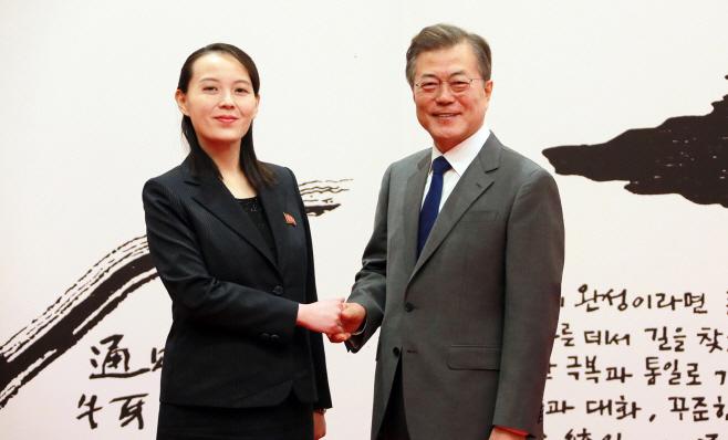 [올림픽] 문 대통령-북한 김여정 접견