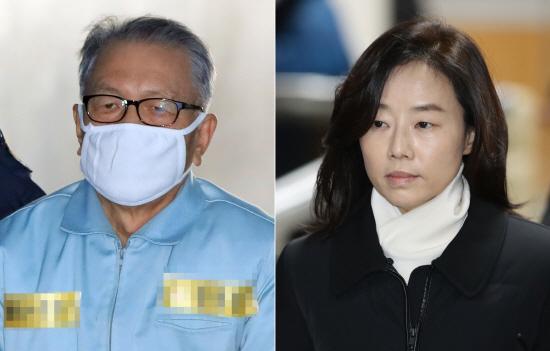 '블랙리스트' 2심 선고 출석하는 김기춘·조윤선