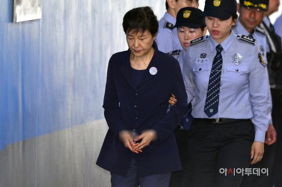 박근혜 전 대통령 2차 공판 출석