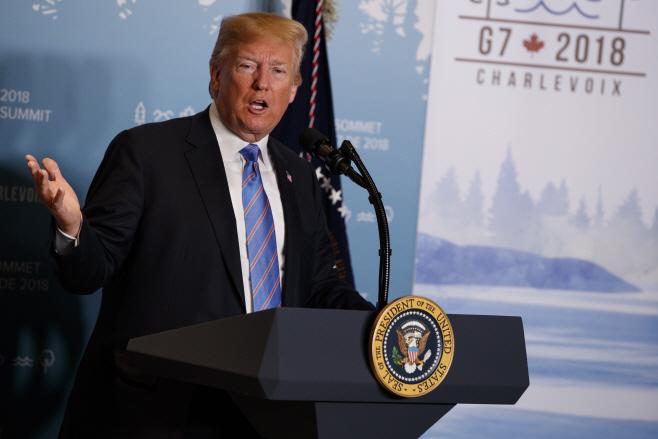 Trump G-7 <YONHAP NO-6209> (AP)