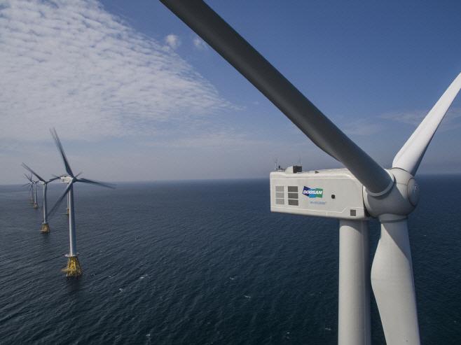 두산중공업이 제주시 한경면 해상에 설치한 30MW급 탐라해상풍