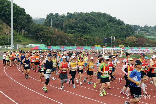 지난해열린가평자라섬전국마라톤대회