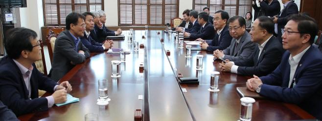 남북공동선언 이행추진위 1차회의 시작하는 임종석 실장