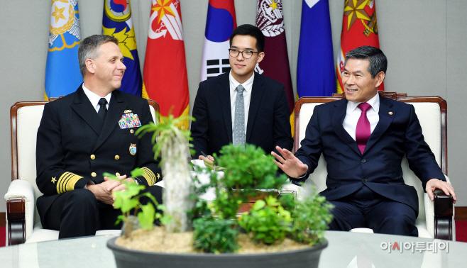 정경두 장관 인도태평양 사령관 접견