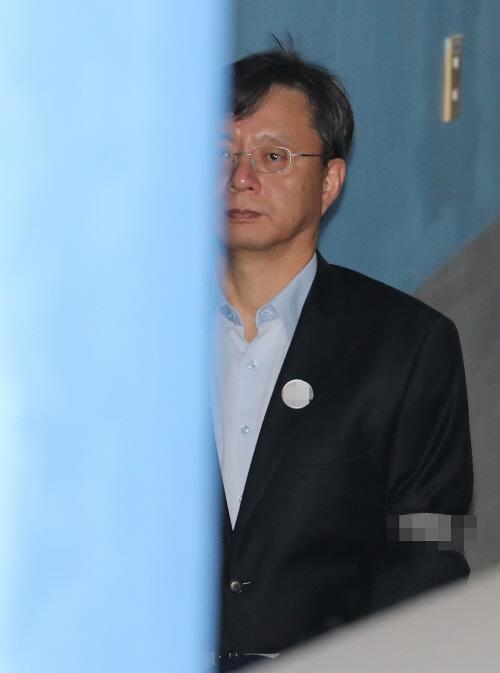 선고 공판 참석하는 우병우 전 민정수석