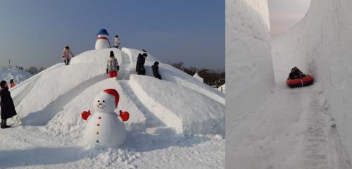 '2019 연천구석기 겨울여행'이 지난 12일 개막해 온통 하얀 눈