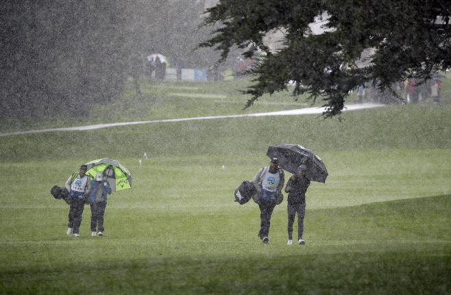 Pebble Beach Golf <YONHAP NO-1029> (AP)