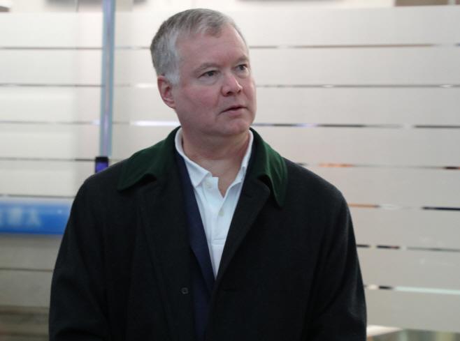 출국하는 스티븐 비건 미국 국무부 대북특별대표