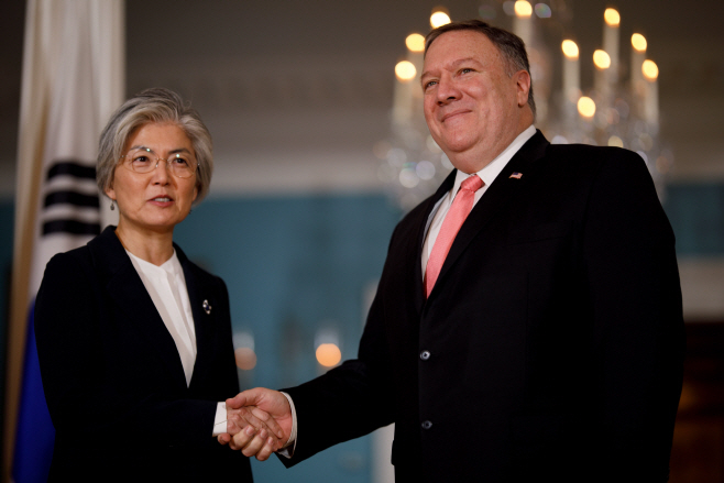 강경화 외교, 미 국무부 방문