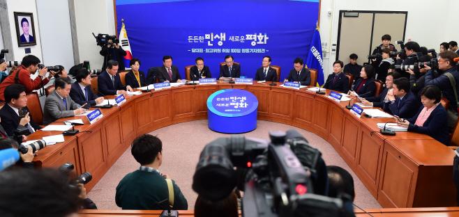 더불어민주당 당대표·최고위원 취임100일 합동 기자회견