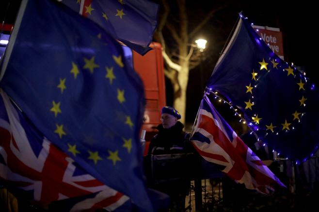 Britain Brexit <YONHAP NO-2184> (AP)
