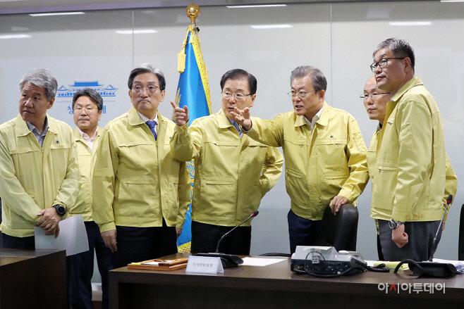 문재인 대통령, 강원도 산불지역 5개군 '특별재난지역' 선포