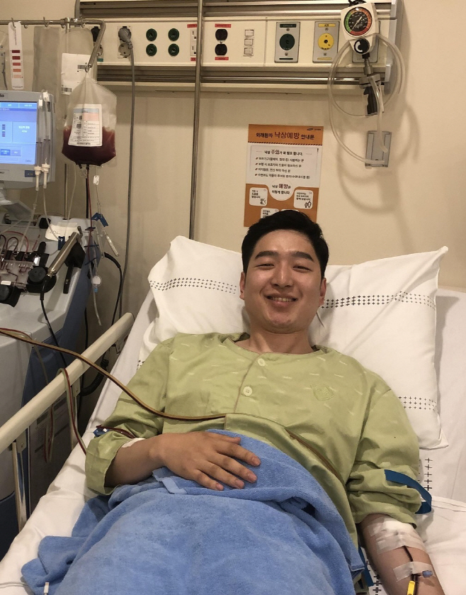 생면부지 환자에 조혈모세포 기증한 오병훈 중위
