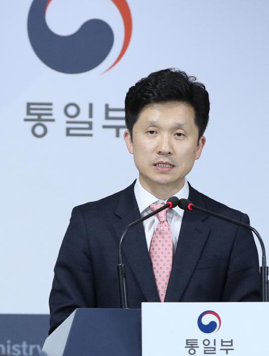 정례브리핑 하는 이상민 통일부 대변인
