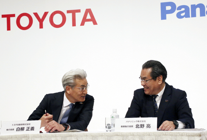 Japan Toyota Panasonic <YONHAP NO-3975> (AP)