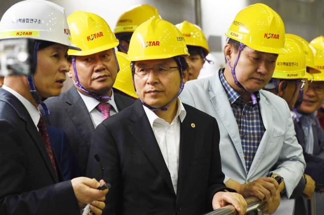 핵융합연구소 찾은 황교안 대표