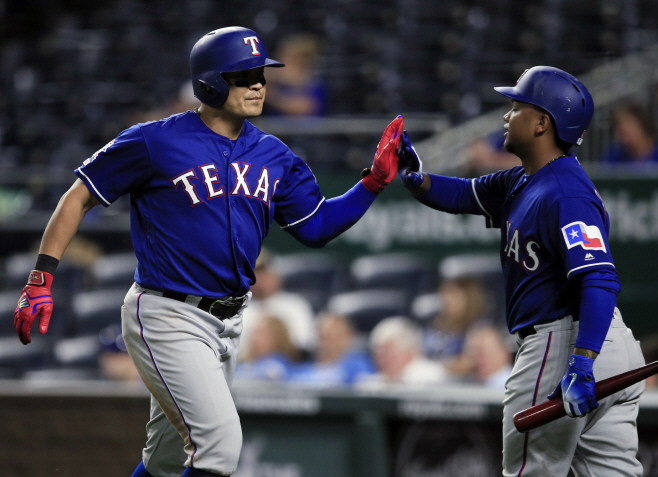 Rangers Royals Baseball <YONHAP NO-4298> (AP)