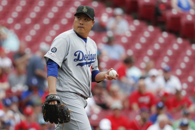 Dodgers Reds Baseball <YONHAP NO-0906> (AP)