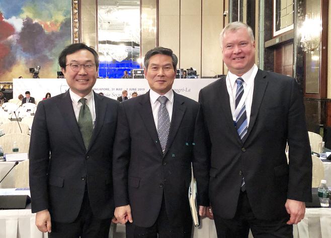 한미 북핵수석대표들 만난 정경두 장관