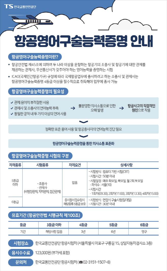 [붙임] 항공영어구술능력증명 안내