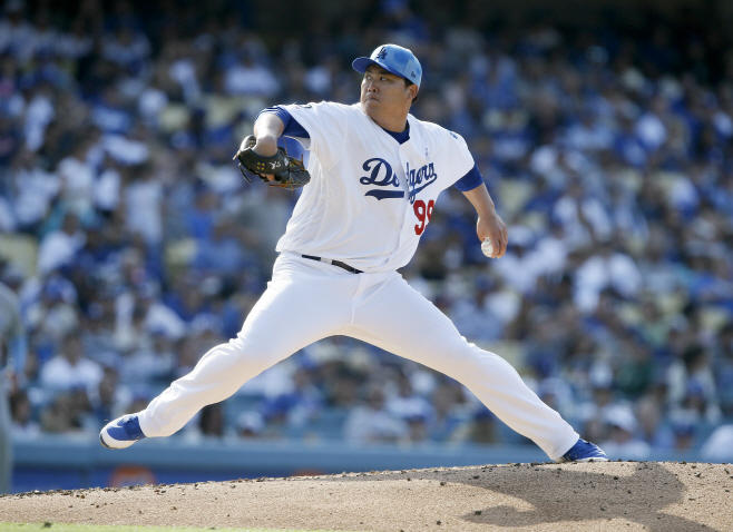 Cubs Dodgers Baseball <YONHAP NO-1412> (AP)