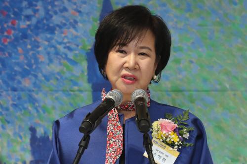 축사하는 손혜원 의원