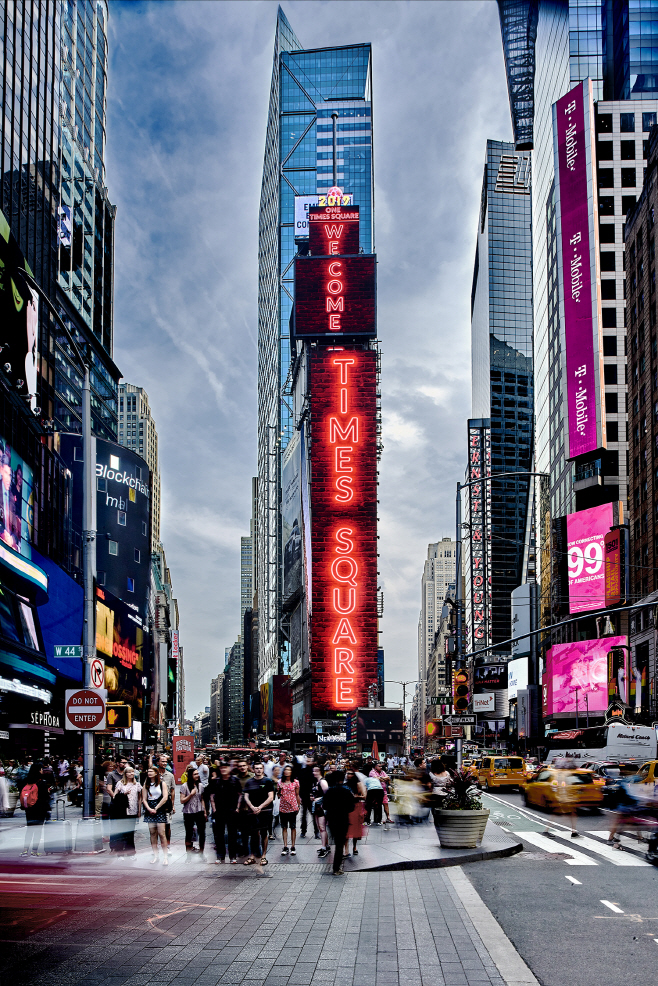 삼성 LED 사이니지 뉴욕 타임스 스퀘어 설치 공급(1)