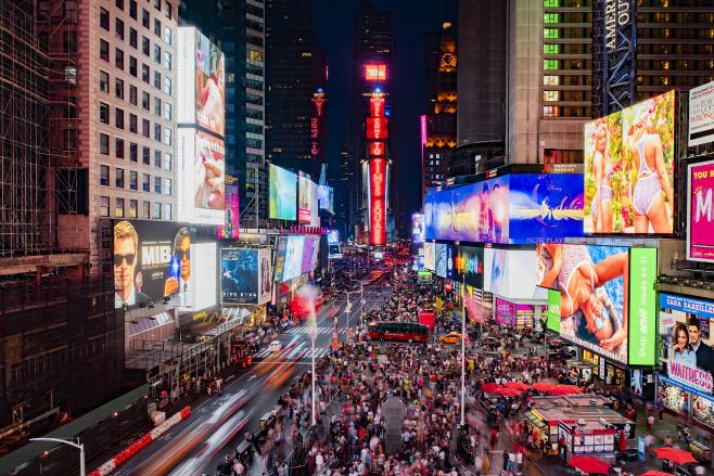 삼성 LED 사이니지 뉴욕 타임스 스퀘어 설치 공급(2)