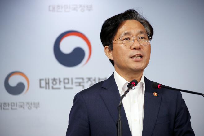 성윤모 장관, 일본 수출규제강화조치 관련 브리핑