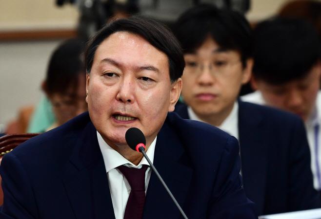 [포토] 윤석열 후보자 '양정철이 2015년 총선출마 권했지만 거절'