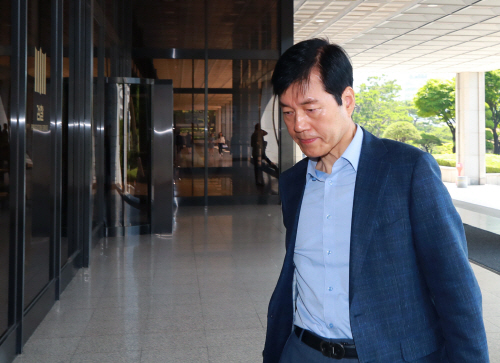 한 달만에 검찰 재소환된 김태한 삼성바이오 대표