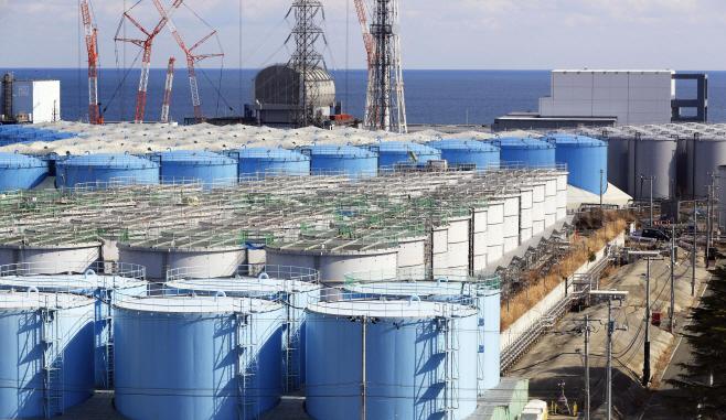 후쿠시마 원전 부지의 오염수 탱크