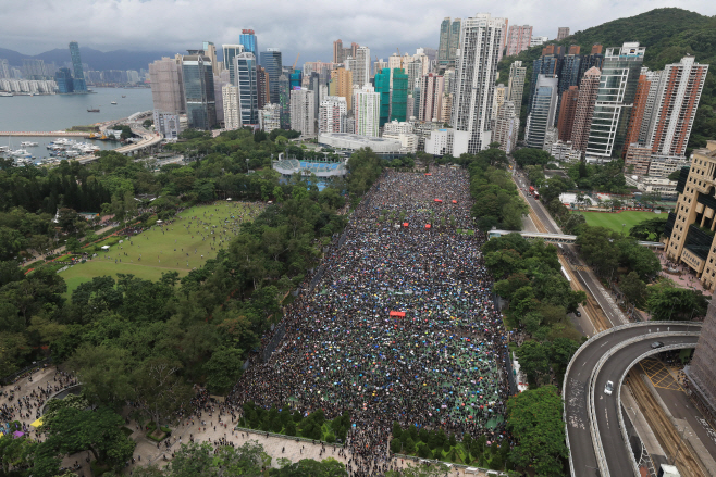 Hong Kong Protests <YONHAP NO-2878> (AP)