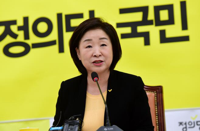 [포토] 심상정 신임 대표, 취임 기념 기자간담회