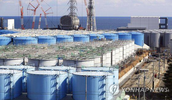 후쿠시마 방사능 오염수 저장탱크