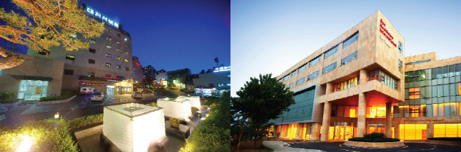 대전선병원(좌)과 유성선병원(우)