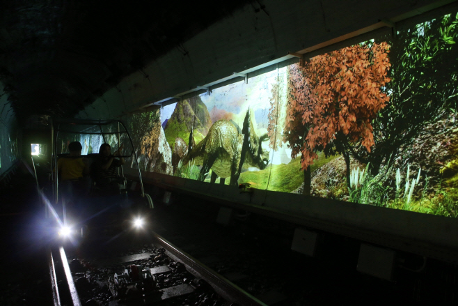 추추파크 레일바이크 공룡탈출