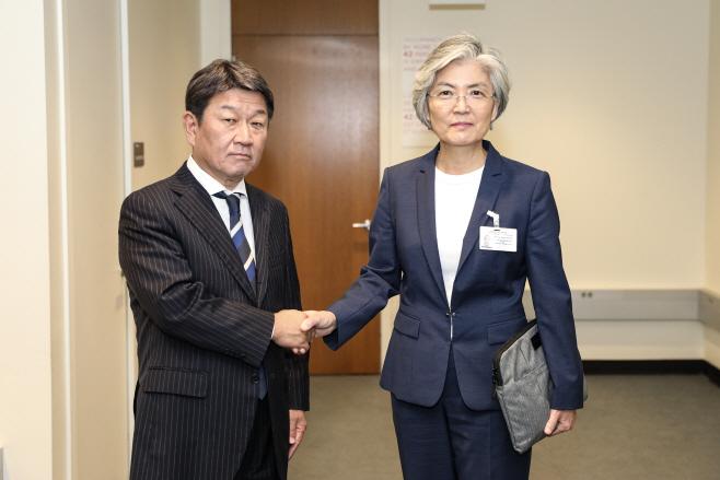 한-일 외교장관 회담 사진