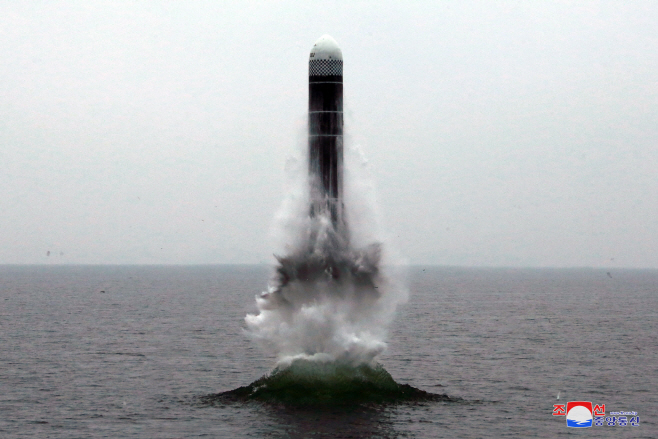 북한 조선중앙통신, 신형 SLBM 북극성-3형 시험발사 보도